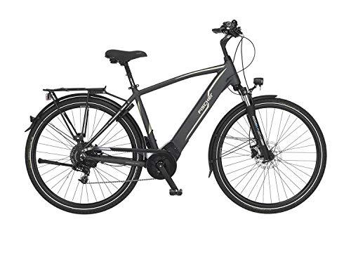 Fischer Unisex– Erwachsene Damen-E-Bike Trekking VIATOR 5.0i, grau matt, 28 Zoll, RH 44 oder 49 cm, Brose...