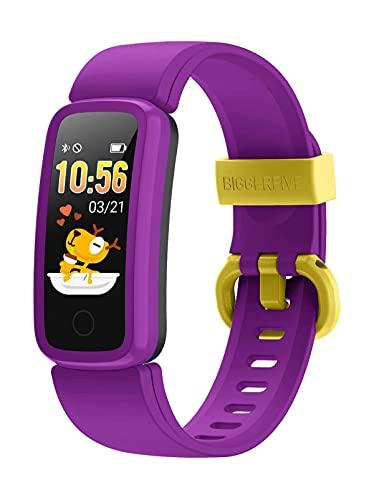 BIGGERFIVE Fitness Armband Uhr für Kinder Mädchen Junge Teenager, Fitness Tracker Smartwatch mit...