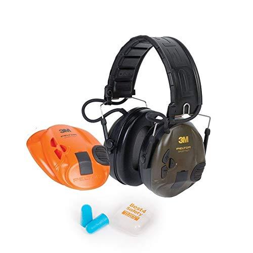 3M Peltor SportTac Elektronischer Gehörschutz | Auswechselbare Farbige Muscheln | Inklusive Ohrenstöpsel...