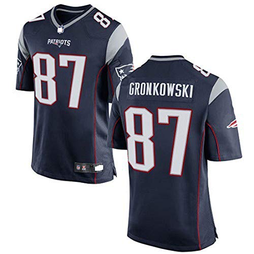 Soulsign NFL Fußball Trikot Legend II Super Bowl NFL Trikot Patriot Elite 12 Brady,black-87,XXL