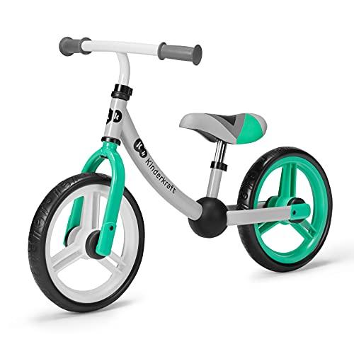 Kinderkraft Laufrad 2WAY NEXT, Lernlaufrad, Kinderlaufrad, Höhenverstellbarer Sattel und Lenker, 12 Zoll...