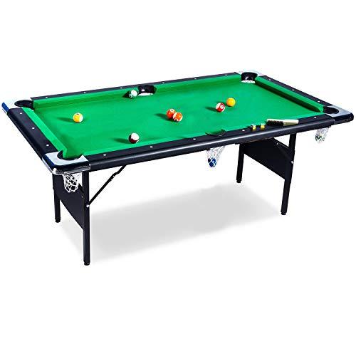 Buckshot Billardtisch 6ft - 193x109x81cm Atlanta- Tischbillard klappbar mit Zubehör - 6 Fuß Pool Billard mit...