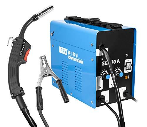 Güde 20071 Fülldraht-schweissgerät SG 130 A (Kühlventilator, Thermoüberlastschutz, Massekabel mit...