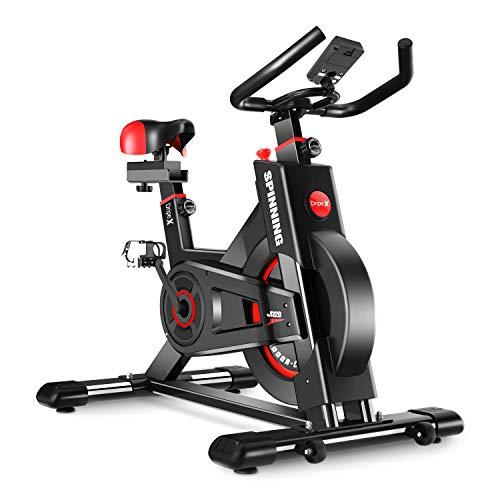 Dripex Heimtrainer, Fitnessbikes Ergometer mit Schutzhülle, Pulsmesser, stufenlose Widerstandseinstellung und...