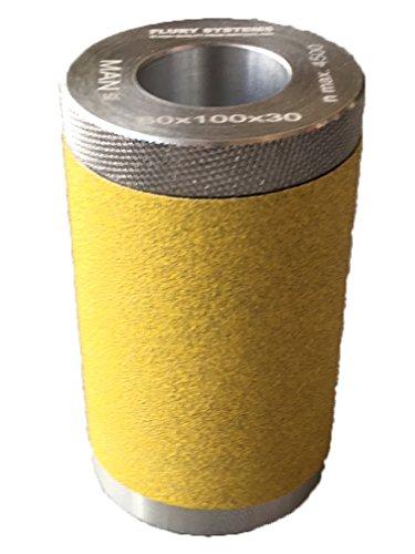 Flury Schleifwalze, 60 x 100 x 30 mm, Alu