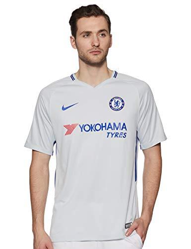 Nike Herren Breathe Chelsea Stadium Trikot, Pure Platinum/Rush Blue, XL
