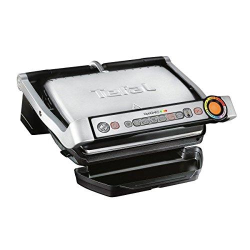Tefal OptiGrill+ GC712D Kontaktgrill, 2.000 Watt, aut. Anzeige d. 6 voreingestellte Grillprogramme, 30 cm x 20...