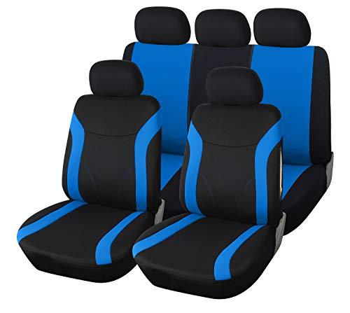 Upgrade4cars Auto-Sitzbezüge Set Blau Schwarz | Auto-Schonbezüge Universal | Auto-Zubehör Innenraum...