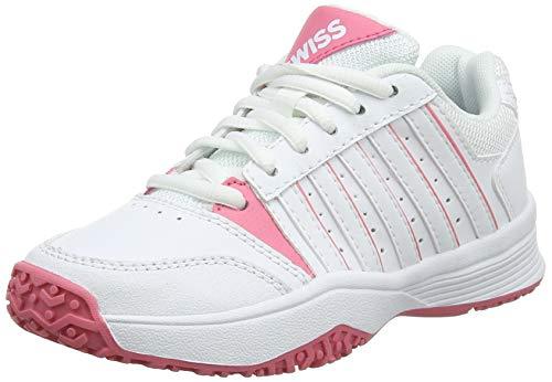 K-Swiss Performance Unisex-Kinder Court Smash Omni Tennisschuhe, Weiß (White/Pink Lemonade 175M), 35 EU