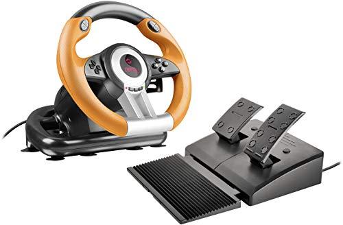 Speedlink DRIFT O.Z. Racing Wheel - USB-Gaming-Lenkrad für PC/Computer - Pedale für Gas und Bremse -...