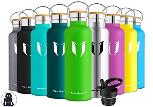 Super Sparrow Trinkflasche Edelstahl Wasserflasche - 750ml - Isolier Flasche mit Perfekte Thermosflasche für...