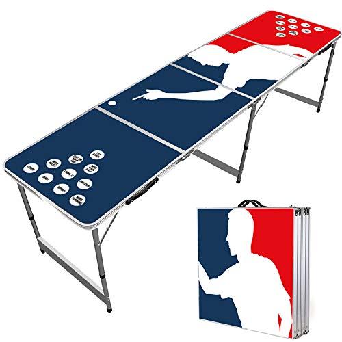 Offizieller Player Beer Pong Tisch | Premium Qualität | Offizielle Wettkampfmaße | Beer Pong Table | Kratz...
