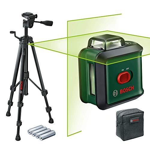 Bosch Kreuzlinienlaser UniversalLevel 360 Set (Horizontale 360°-Laserlinie + vertikale Laserlinie, grüner...