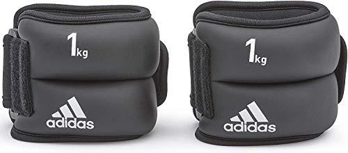 adidas Gewichtsmanschetten Ankle and Wrist, Bodytex Material, schwarz, 2 x 1,0kg, AD-12228