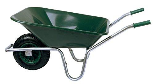 Schubkarre 85 Liter bis Belastbarkeit 250 kg, PVC, grün (Gartenkarre Bauschubkarre Baukarre Gartenschubkarre...