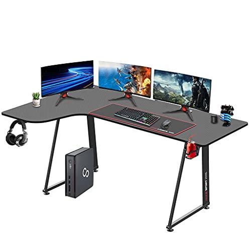 Dripex Gaming Tisch L-Form, Eckschreibtisch 160cm, L-förmiger Computertisch, Großer Ergonomischer...
