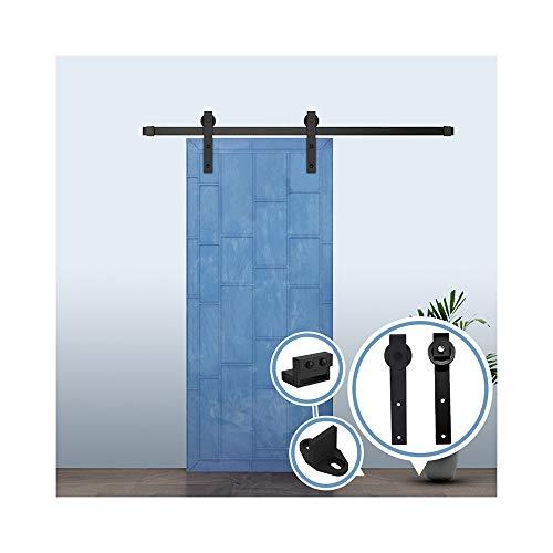 Schiebetürbeschlag Set 6.6FT/200 cm Schiebetür Kit Hängeschiene Schiebetürsystem Barn Door Hardware für...