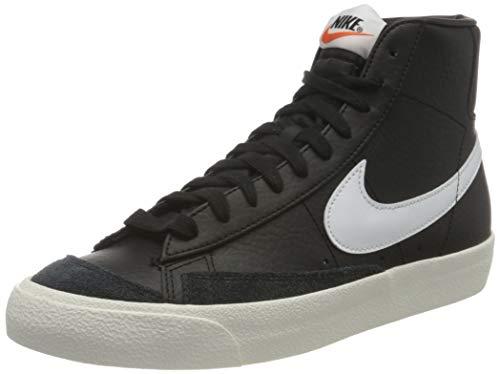 Nike Herren Blazer MID '77 VNTG Basketballschuh, Black/White-Sail-Team Orange, 44 EU