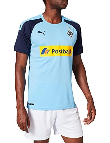 PUMA Herren BMG Away Shirt Replica with sp Trikot, Team Light Blue-Peacoat, 3XL