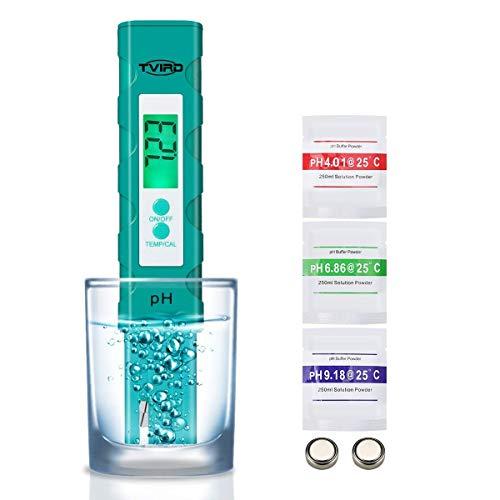 PH Messgerät PH Wert Messgerät Digital,Tvird PH Tester Pool ATC Wasserqualitätstest Messgerät mit LCD...
