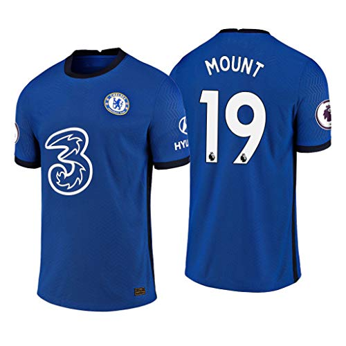 Mason Mount Chelsea Blau,Maillot Mason Mount Trikot 2020/21 für Herren & Jungen(Blau,L)