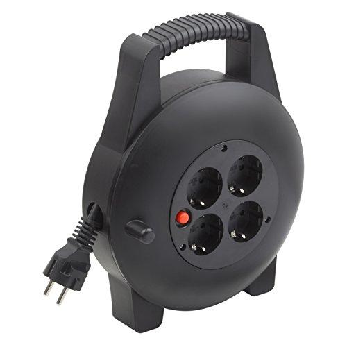 Meister Kabelbox H05VV-F3G1,5, IP20 - 10 m Kabel - Thermoschutz-Schalter - Indoor / Kabelrolle mit 4...