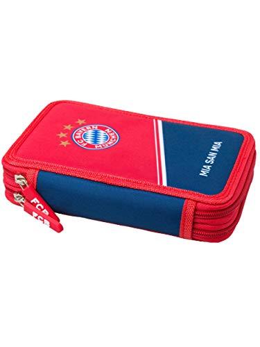 FC Bayern München Federmäppchen, gefülltes Schuletui 24 teilig