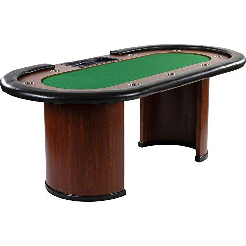 Maxstore Pokertisch Royal Flush, 213 x 106 x75 cm, Farbwahl, Gewicht 58kg, 9 Getrnkehalter, gepolsterte...