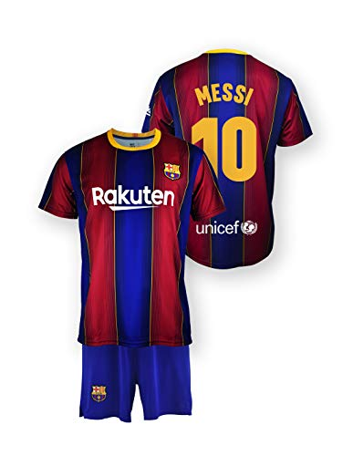 Set aus Trikot und Hose von Lionel Messi, offizielles Lizenzprodukt, FC Barcelona, erste Mannschaft, Saison...