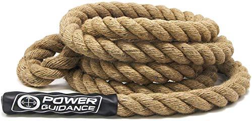 POWER GUIDANCE Kletterseil, Manila Kletterseil, Climbing Rope 3.8cm Durchmesser, Keine Halterung benötigt,...