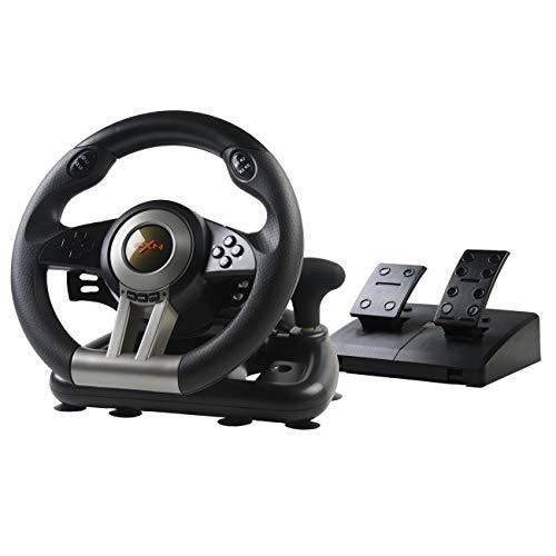 PXN V3 Gaming Rennlenkrad 180° Universal USB Autorennspie Spiel Lenkrad mit Pedalen und Schaltpaddles für...
