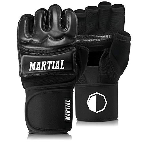 MMA Handschuhe Profi von Martial - professionelle Qualitt - hochwertige Konstruktion - Boxen, Training,...