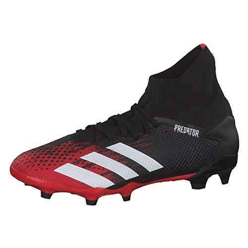 adidas Predator 20.3 Fg Herren-Fußballschuhe, Mehrfarbig (Kern Schwarz/FTWR Weiss/Aktiv Rot), 43 1/3 EU