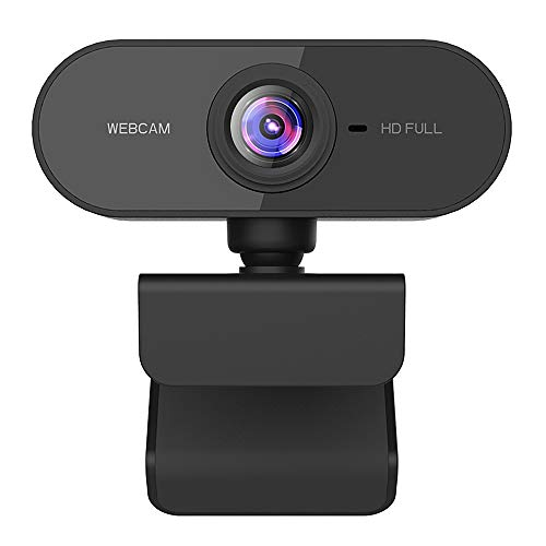 Dewanxin Webcam, USB Full HD 1080P Webcam mit geräuschunterdrückendem Mikrofon PC Laptop Desktop Webkamera...