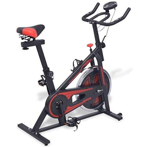 vidaXL Fitnessfahrrad Heimtrainer Trimmrad Hometrainer Ergometer mit Pulssensor