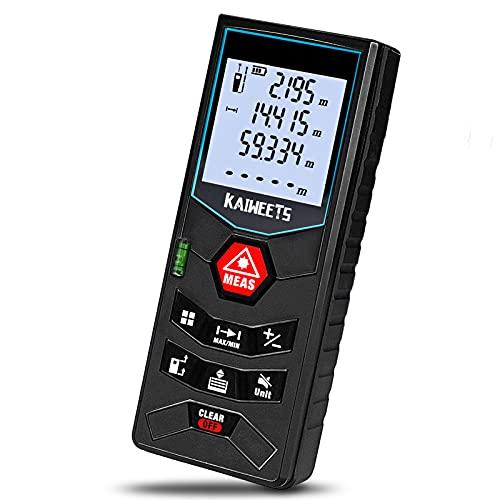 Laser Entfernungsmesser, bis zu 60m/±2mm Messgerät, Kaiweets professional digitales Lasermessgerät...