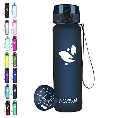 AORIN Trinkflasche - 350ml/500ml/750ml/1L,Wasserflasche BPA-Frei & Tritan Auslaufsicher...