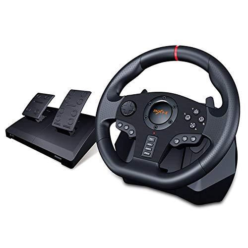 PXN V900 PC Gaming Racing Wheel Lenkräder | Universal USB Car Sim 270/900 Grad Rennlenkrad mit Pedalen für...