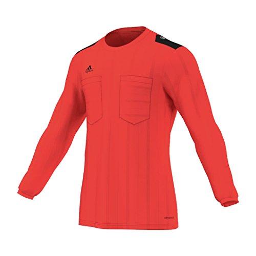 adidas Herren T-shirt UCL REF Jersey Long Sleeve, Rot / Schwarz, L, 4055015650517