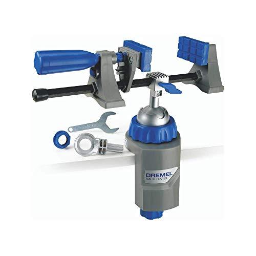 Dremel 2500 Multi Vise - Multi Schraubstock (mit Abnehmbare Soft-Spannbacken und Werkzeugständer-Adapter zum...