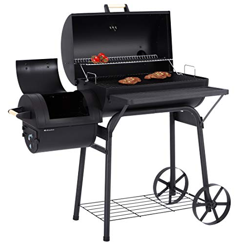 Ultranatura Smoker Grill Denver mit Side-Fire-Box, Deckel- Thermometer,massive Ausführung, Barbecue...