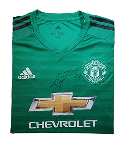 David De Gea 2018–19 Manchester United Autogramm-Trikot (Home) – MUFC Manchester United Football Club...
