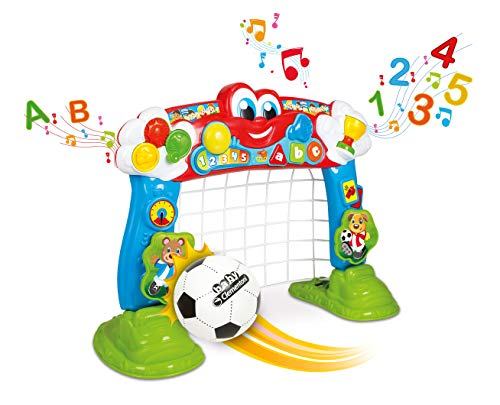 Clementoni 69468 Interaktives Fußballtor, 2in1 Spielzeug für Kinder, Ballspiel für Motorik und...