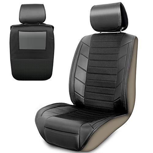 Upgrade4cars Autositzschoner & Rücksitz Organizer | Auto Sitzbezug für Vordersitze mit Trittschutz für die...