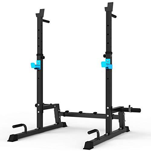 Squat Rack Multi-Funktions Barbell Rack Höhenverstellbarer Hantelständer für Sportstudio Zuhause...