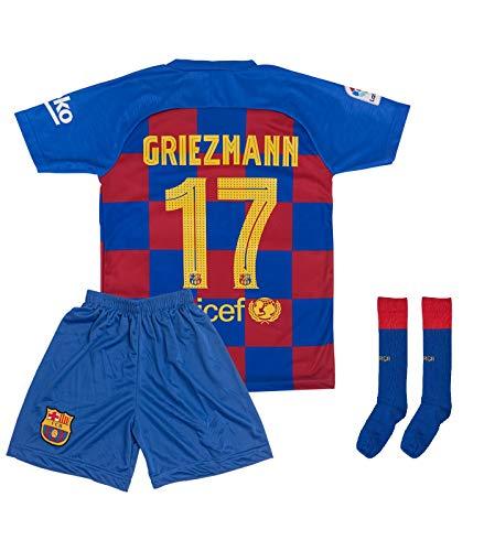ATB Barcelona 2019/2020#7 Griezmann Heim Kinder Fußball Trikot und Shorts mit Socken Kinder und Jugend...