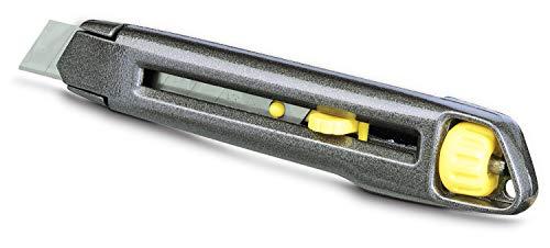 Stanley Cutter InterLock (Metallkorpus, werkzeugloser Klingenwechsel, Klingenschieber rastet ein) 1-10-018,...