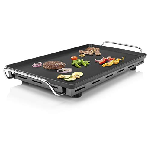 Princess Table Chef XXL - Teppanyaki-Grillplatte, 36 x 60 cm, inklusive 4 Holzspatel, abnehmbares Thermostat,...