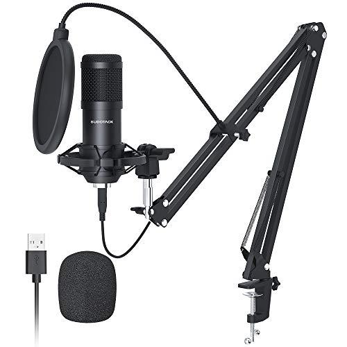 USB Mikrofon, SUDOTACK professionelles podcast mikrofon 192KHZ/24Bit Studio Cardioid-Kondensatormikrofon-Kit...