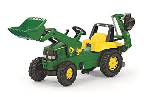Rolly Toys Traktor / rollyJunior Trettraktor John Deere (mit Lader und Heckbagger, für Kinder ab 3 Jahren,...